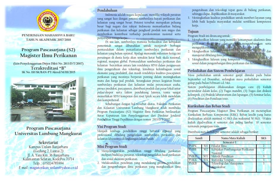 Leaflet S2 Ilmu Perikanan_2018